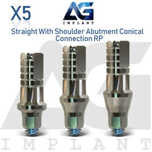 5 Straight Shoulder Abutment Conical Connection Rp Titanium For Dental Implant