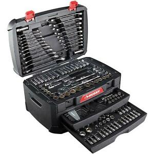 268 piece Husky Mechanics Tool Set W Case Sae Metric Sockets Wrenches Repair Kit