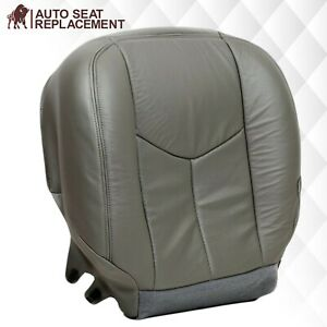 2003 2004 2005 2006 Cadillac Escalade Driver Bottom Leather Seat Cover Gray