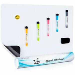 Large Magnetic Dry Erase Whiteboard Sheet Fridge 23x15 quot New Stain Resistant