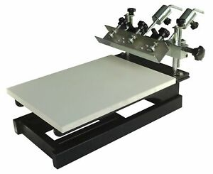 1 Color Screen Printing Press Micro registration Screen Printer T shirt Printing