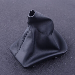 Leather Shifter Shift Knob Gear Gaiter Boot Cover Fit For Bmw E46 1999 2000 2005