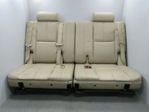 07 14 Escalade Yukon Suburban Tahoe Denali Third 3rd Row Leather Seats Tan G