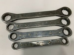 Snap on Ratchet Box Wrench 12pt 4pc Set R3032a R2428a R2024c R1618a