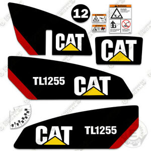 Caterpillar Tl1255 Telescopic Forklift Decal Kit Equipment Decals Tl 1255