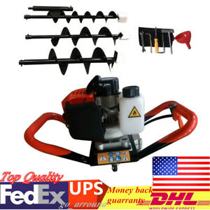 52cc Powered Engine Post Hole Digger 2 3hp Gas Powered Earth Auger