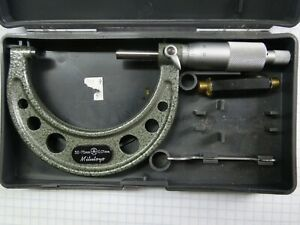 Mitutoyo 50 75 Mm Outside Micrometer Tool 103 139 Carbide Tipped With Case japan