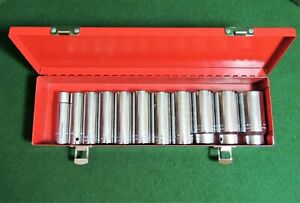 Wright 1 2 Drive Sae 12pt Deep Well Socket Set excellent