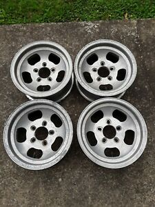 Vintage Et Wheels 14x6 75 Aluminum Slots Gasser Rat Rod Wheels