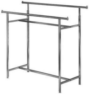 60l X 22w Commercial Grade Clothing Double Bar H Rack Adjustable Height 60 L