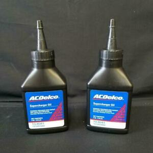2 4 Oz Bottles Of Genuine Gm Oem Ac Delco Supercharger Oil Eaton 10 4041