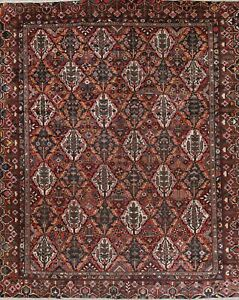 Antique Palace Sized Area Rug Hand Knotted Wool Garden Design Carpet 12 X 15