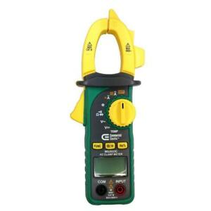 Commercial Electric Digital Clamp Meter Ac Dc Voltage 600v Cat Iii Non contact