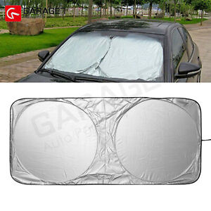 1pcs Front Window Car Sun Shade Visor Folding Uv Block Cover Windshield 150x70cm