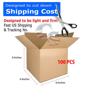 200 6x6x6 Cardboard Shipping Boxes Cartons Packing Moving Mailing Box