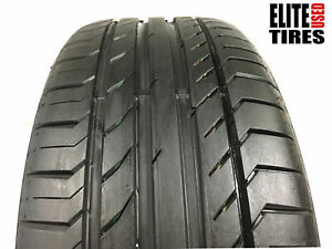 1 Continental Contisportcontact 5 Ssr Run Flat 225 40 19 Tire Driven Once