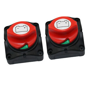 2x Boat Knob Battery Master Isolator Cut Off Power Switch On off Control