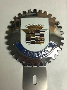 New Cadillac License Plate Topper Chromed Brass Great Gift Item