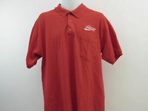 Coca Cola Polo Golf Shirt Mens Size Large L Red