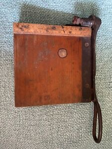 Vintage Cast Iron Paper Cutter Craft Trimmer 6x6 Inch Antique Paper Cutter