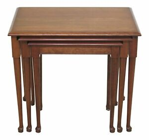 F47580ec Pennsylvania House Solid Cherry 3 Stack Nesting Tables