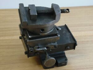 Vintage Milling Machine Table Vise 3 Axis 1 Toolmaker Metal Worker Drill Press