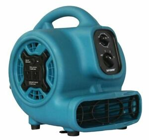 800 Cfm 3 sp Mini Air Mover Floor Dryer Utility Blower Fan W Timer Power Outlet
