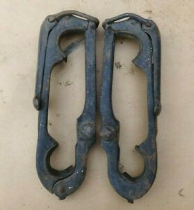 1909 1927 Top Bow Saddles Clamps Original Pair 408r 408l Model T Ford Dodge