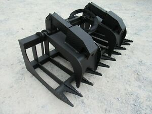 72 Severe Duty Dual Cylinder Root Grapple Attachment Fits Skid Steer Loader