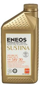 Eneos Sustina High Performance Fully Synthetic Motor Oil 5w 30 6 Quarts