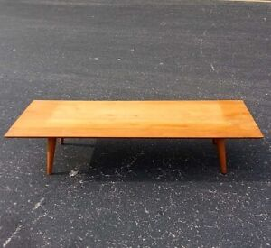Mid Century Paul Mccobb Planner Group Coffee Table Bench By Winchendon Furniture