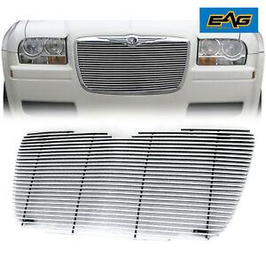 Fit For 2005 2010 Chrysler 300c Chrome Aluminum Grille Insert Grill