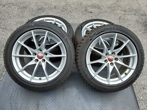 4 Genuine Original Oem Factory Jaguar F Type Rims 18 Inch Rare 2019 Wheels Tires