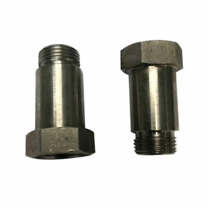 Pack Of 2 M18 1 5 Thread Catalytic Oxygen O2 Sensor Spacer Adapter Universal