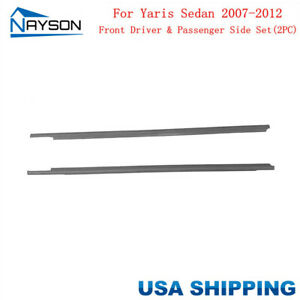 For Toyota Yaris Sedan 2007 12 Window Weatherstrip Molding Trim Outer Front L