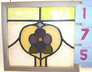 Old Leaded English Stained Glass Window
