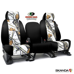 Coverking Skanda Mossy Oak Winter Camo Front Seat Covers For Chevy Colorado