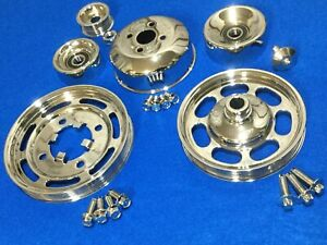 Chrome Oem 94 95 Mustang Gt Cobra Saleen Pulley Kit 5 0