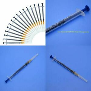 100pack 1ml Syringe With 26g 3 5inch Needle Disposable Sterile Syringe
