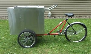 Ice Cream Or Other Stuff Bicycle Tricycle Bike Mobile Food Delivery Cart