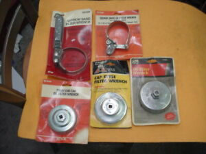 5 Oil Filter Wrenches 2 Kd Kp Industries Big A And Lisle New Old Sto