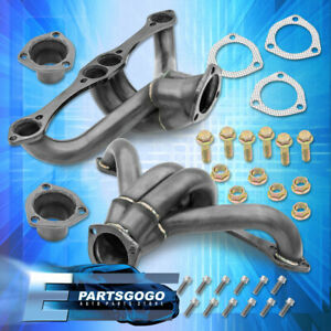 For Chevy Pontiac Buick 283 400 V8 Small Block Sbc Black Racing Manifold Header