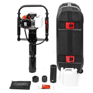 Gas Powered T post Driver 32 7cc 1 2hp 2 stroke Gasoline Engine Push Pile Driver