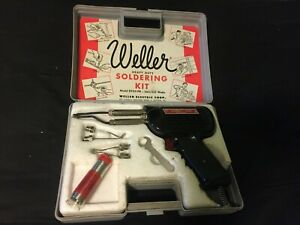 Weller D550 Pk Soldering Gun Kit vintage made In America factory Plastic Case