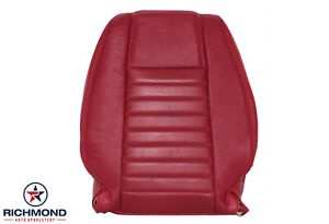 2005 2009 Ford Mustang V8 Gt Driver Side Lean Back Leather Seat Cover Red