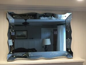 Large Art Deco Vintage Wall Mirror