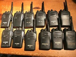 12 Motorola Ex500 Uhf 450 512 Mhz 16 Ch Two way Radio Aah38sdc9aa3an Traded In
