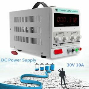 Dc Power Supply 30v 10a Precision Variable Adjustable Switching Digital Study Sg