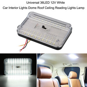36led 12v White Car Interior Lights Dome Roof Ceiling Reading Lights Lamp Auto