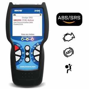 Innova 3100j Check Engine Code Reader Scan Tool With Abs Srs Evap And Free